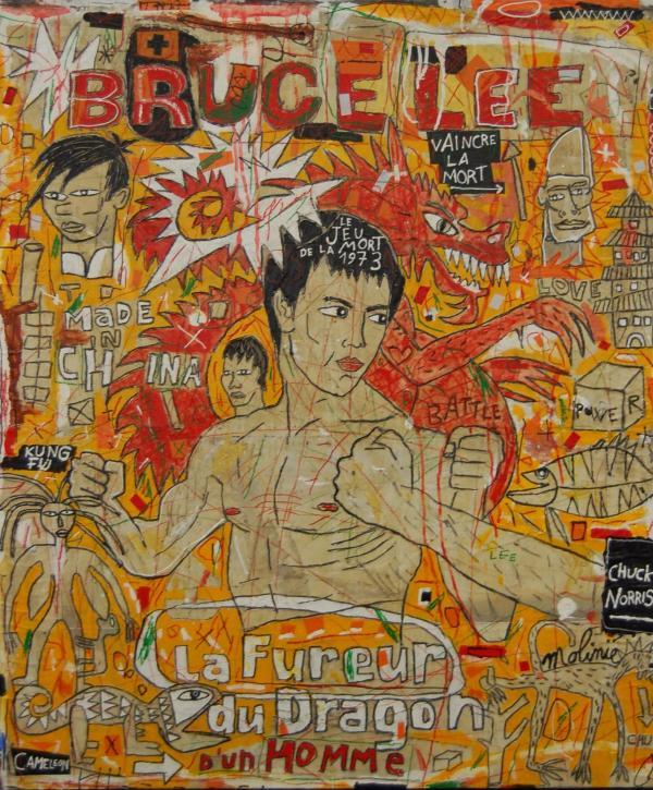 Bruce Lee - Mickaël Molinié 2008 - Techniques mixtes sur toile